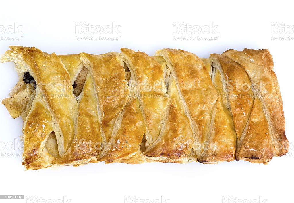 German Apple strudel stock photo