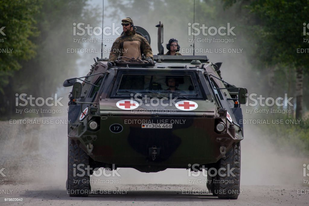 German armoured personnel carrier Fuchs, medical version stock photo