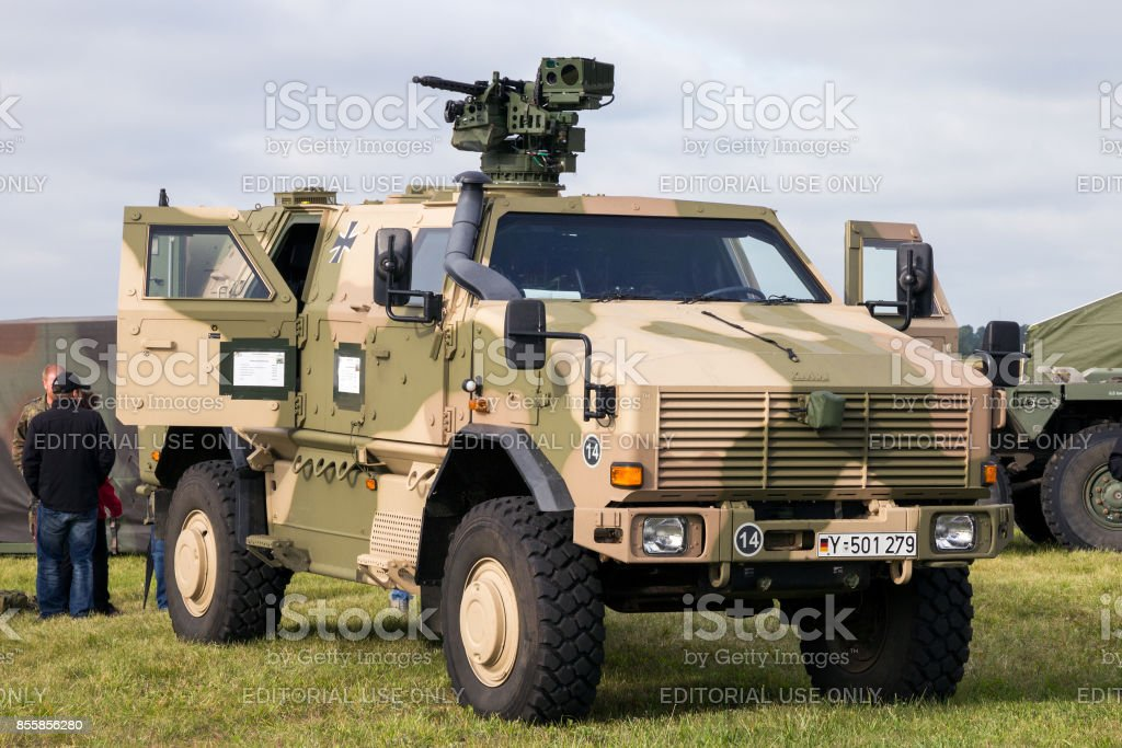 German Army ATF Dingo 2 vehicle stock photo