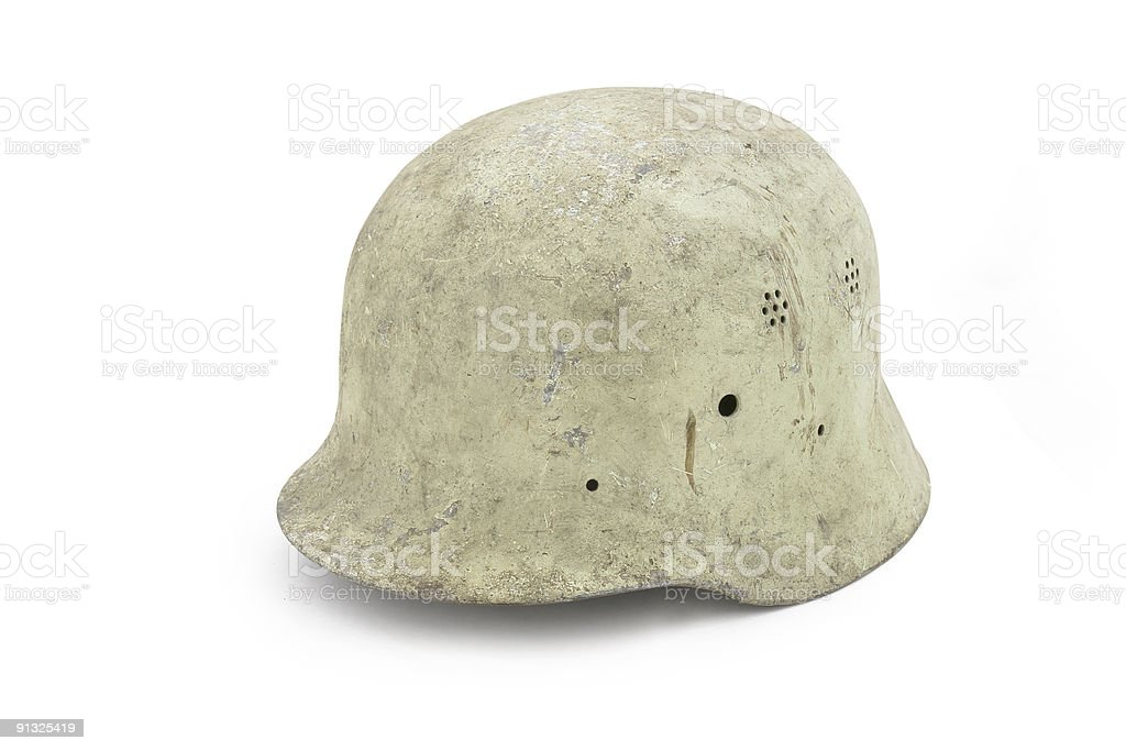 German army helmet (model M35) royalty-free stock photo