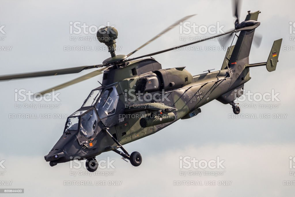 German Army Tiger attack helicopter stock photo
