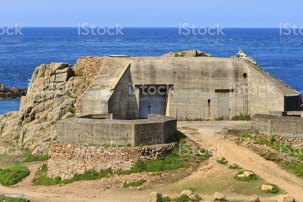 German Atlantic Wall Bunker, Jersey royalty-free stock photo