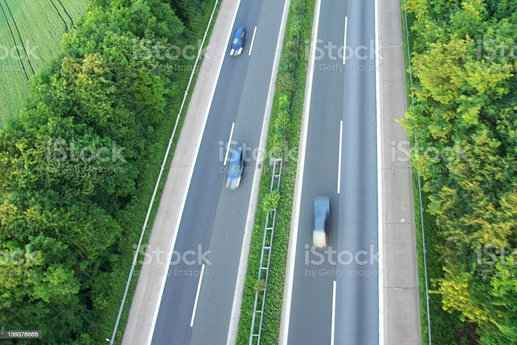 German Autobahn at its best royalty-free stock photo