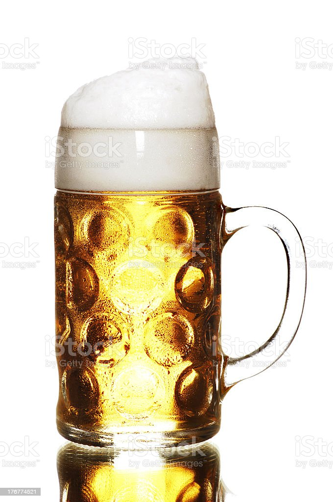 German beer - a Masskrug royalty-free stock photo