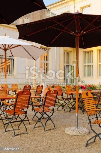 German Beer Garden Stock Photo More Pictures Of Adirondack Chair