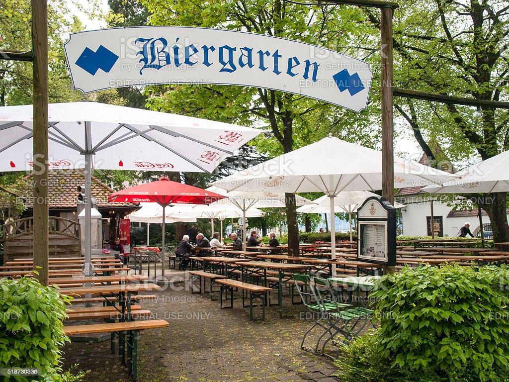German beer garden stock photo