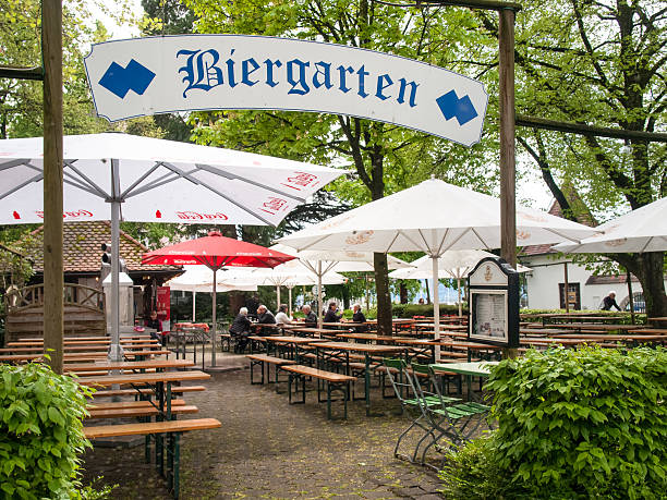 German beer garden stock photo