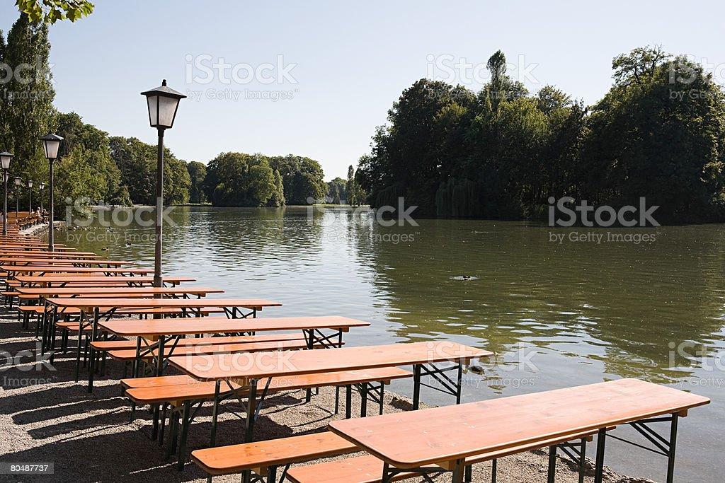 A german beer garden 免版稅 stock photo