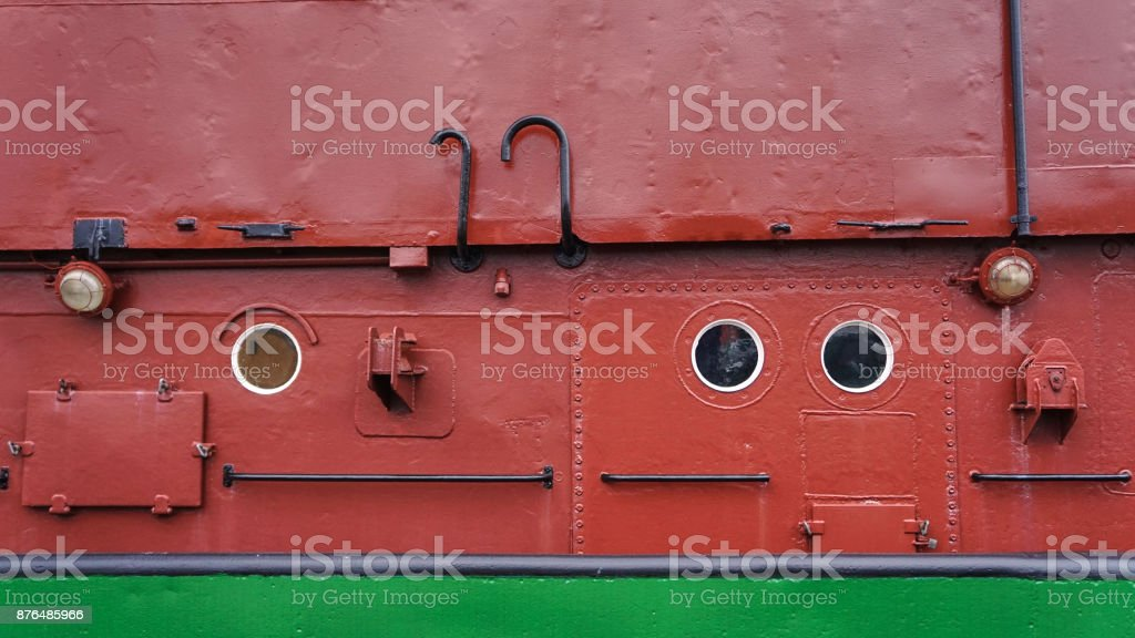 A German boat in Bremerhaven stock photo