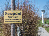 German Border area Exclusion zone of the former GDR