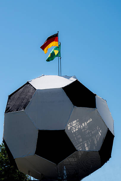 German brasilian flag soccer  WM stock photo