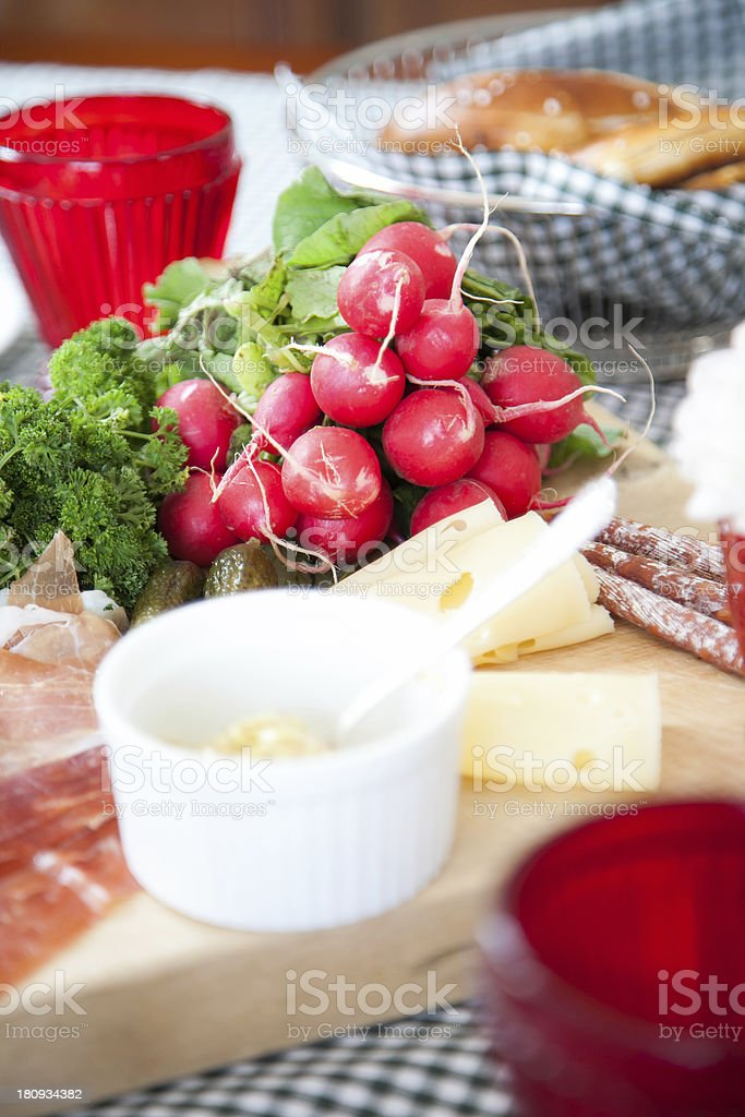 German Breakfast royalty-free stock photo