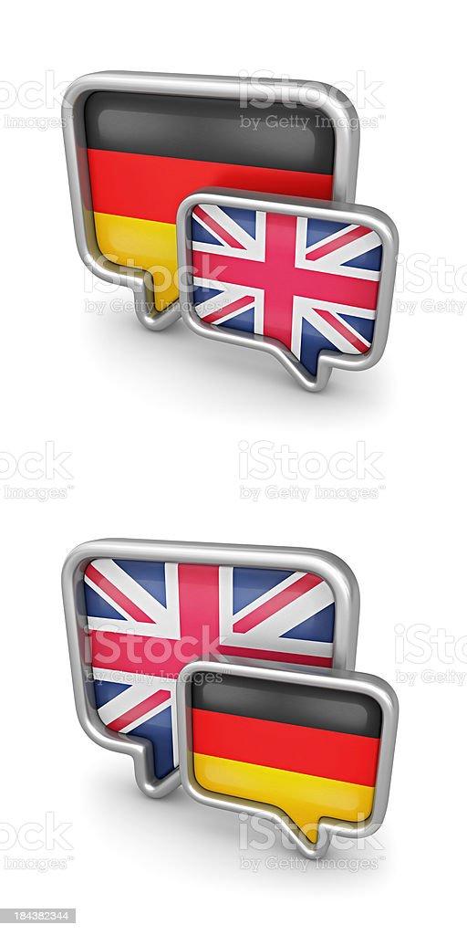 german - british translation royalty-free stock photo