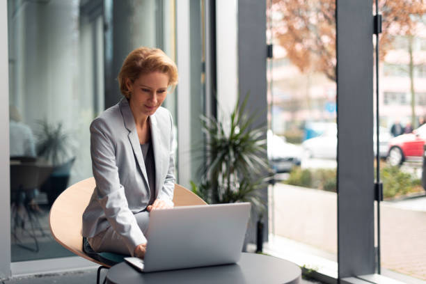 German businesswoman stock photo