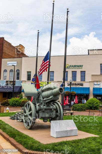 German cannon, main square, Hickory