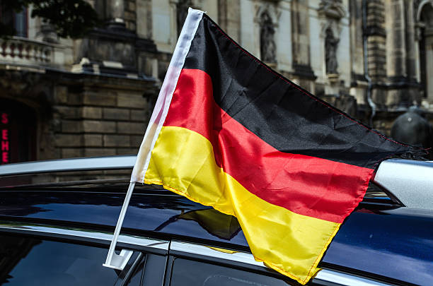 German Car Flag stock photo