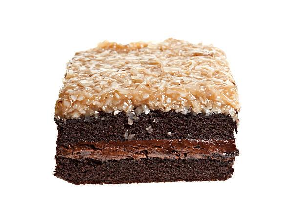 deutsche schokolade kuchen square - deutscher schokoladen zuckerguss stock-fotos und bilder