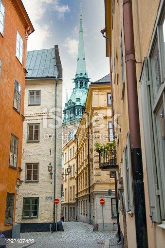 istock German Church in Gamla stan Stockholm 1292407422