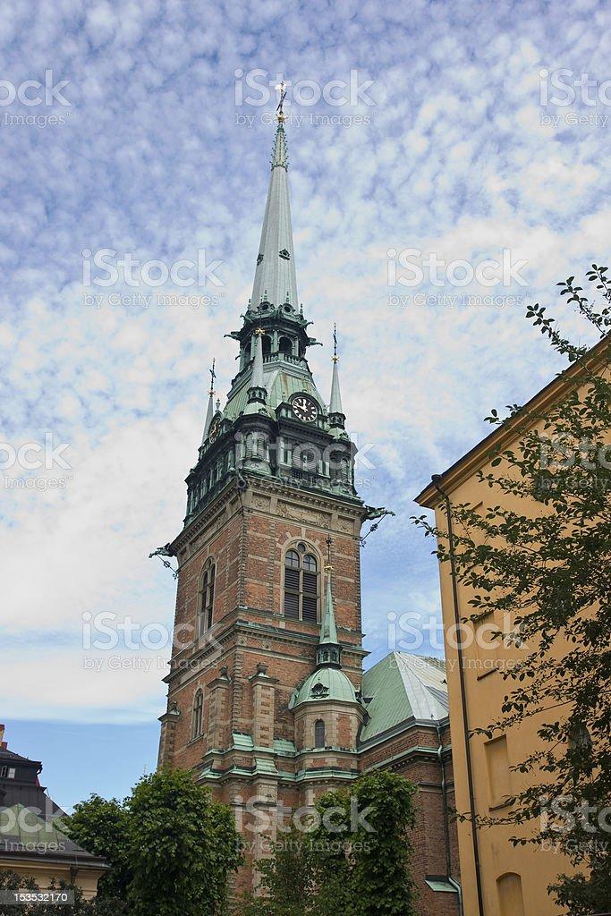German church, Stockholm stock photo