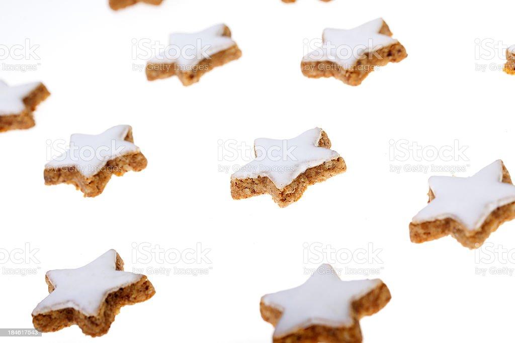 German Cinnamon Stars Typical Christmas Pastry Stock Photo