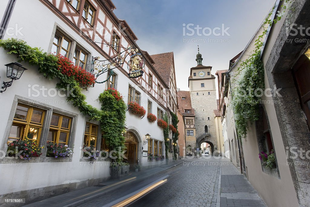 German city Rothenburg o.d. Tauber royalty-free stock photo