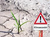 German Climate change sign