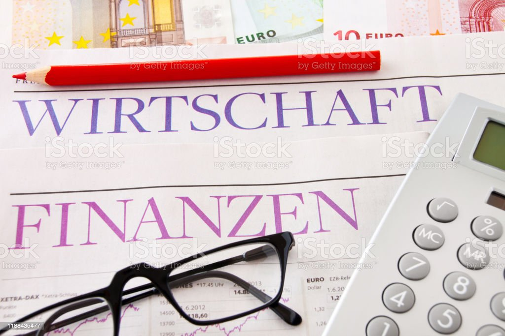German daily newspaper Finances and economy as background
