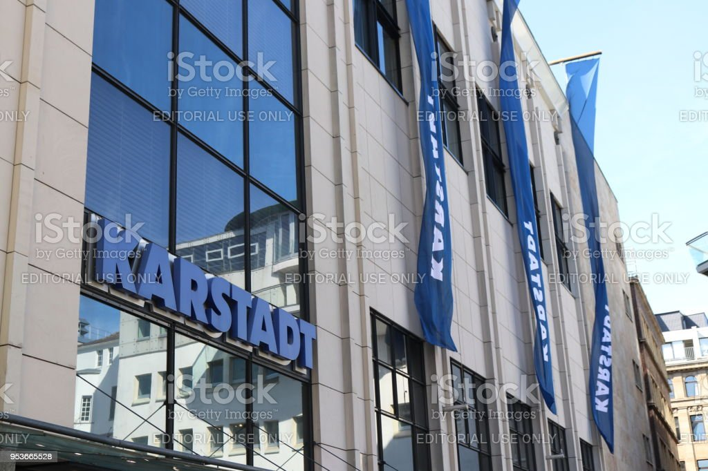 on wholesale later new products German Department Store Chain Karstadt Brand Logo At Shop In ...
