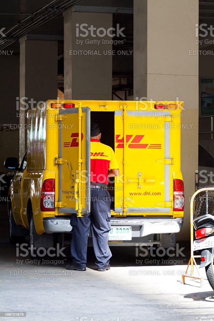German DHL in Bangkok royalty-free stock photo