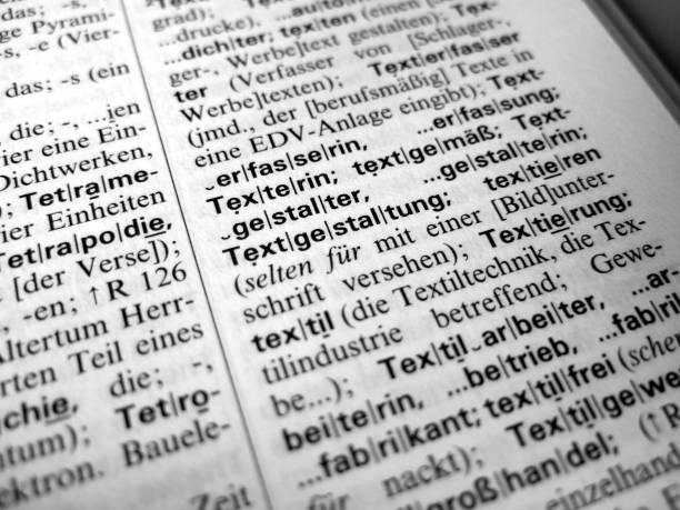 Deutsche Wörterbuch text – Foto