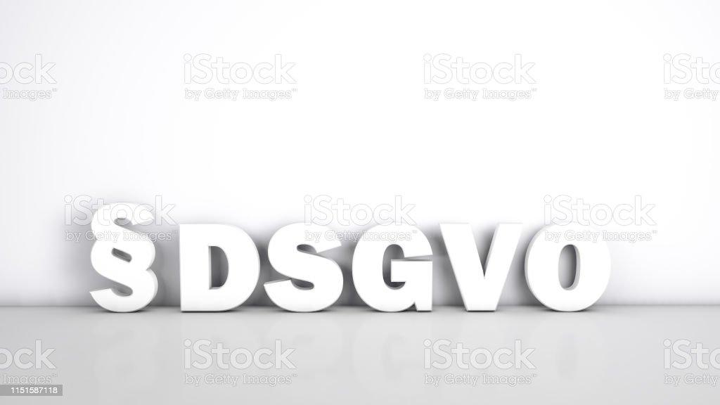 Deutsches DSGVO-Konzept - Lizenzfrei Abstrakt Stock-Foto