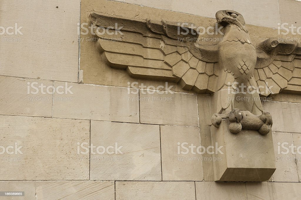 German eagle, sculpture on a building wall stock photo