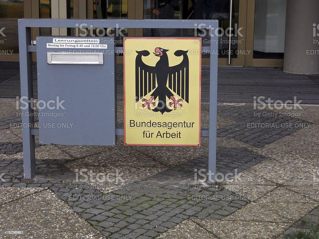 Deutsche Beschäftigung center-Hauptsitz Briefkasten - Lizenzfrei Anwerbung Stock-Foto