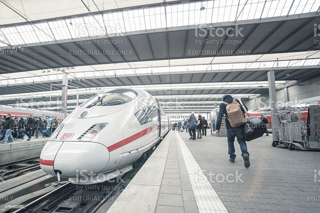 ICE - German express train stock photo