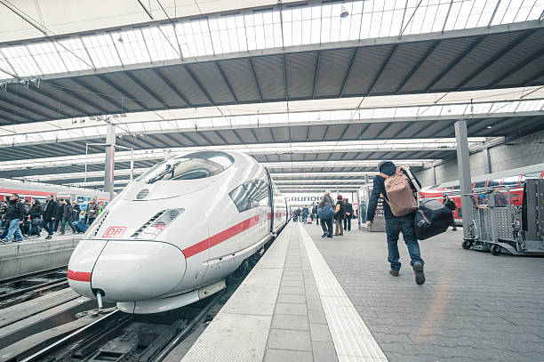 ice - german express train - munich train station bildbanksfoton och bilder