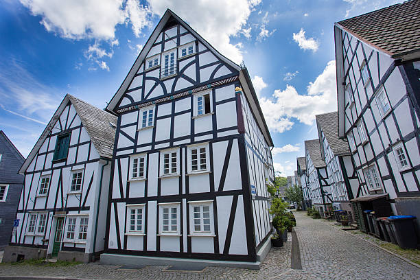 german fachwerkhaus german fachwerkhaus half timbered stock pictures, royalty-free photos & images