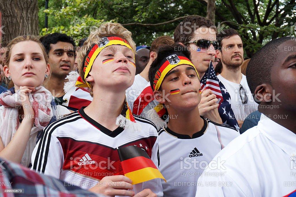German Fans at Dupont Circle stock photo