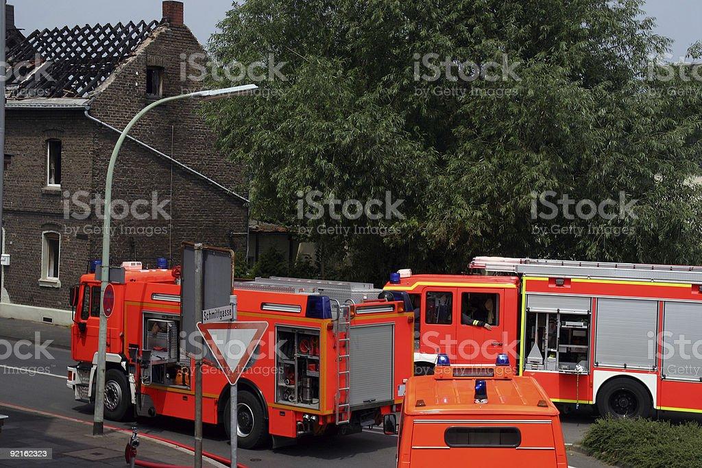German fire trucks stock photo