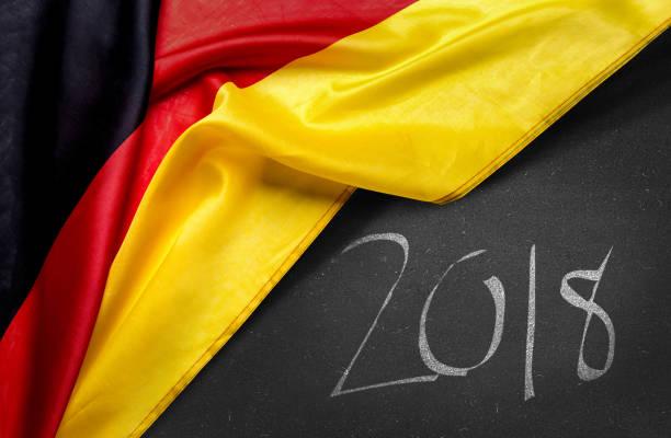 German Flag 2018 Stock Photo