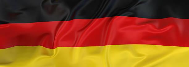 bannière drapeau allemand - drapeau allemand photos et images de collection