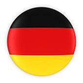 German Flag Button - Flag of Germany Badge 3D Illustration