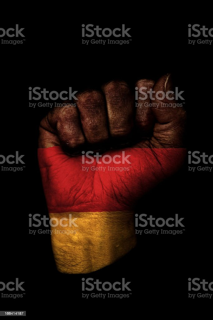 German Flag Fist royalty-free stock photo