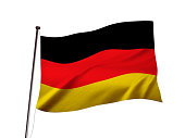 german flag fluttering in the wind