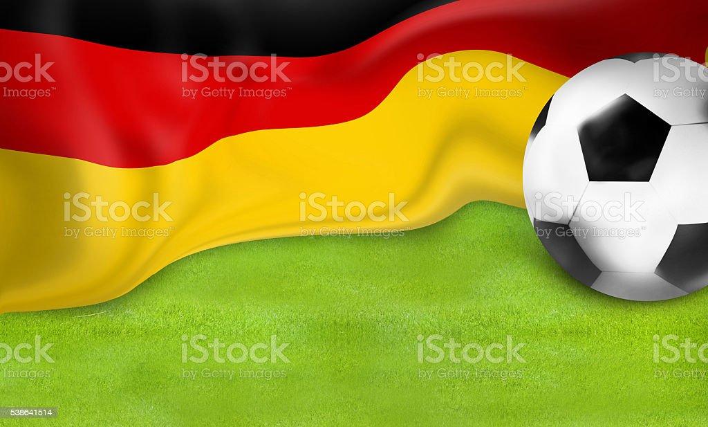 german flag football soccer 3D ball design stock photo