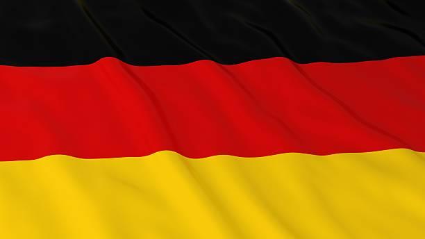 German Flag HD Background - Flag of Germany 3D Illustration stock photo