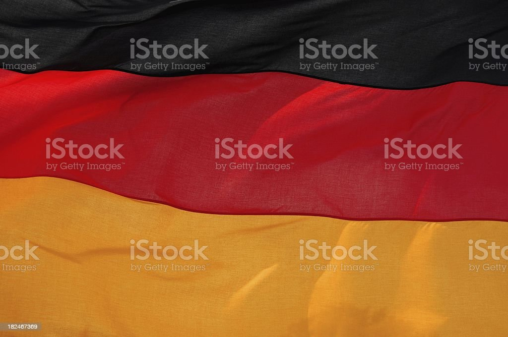 German flag in the sun royalty-free stock photo