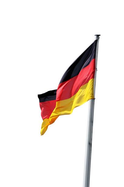 deutsche flagge, isoliert - stoffe berlin stock-fotos und bilder