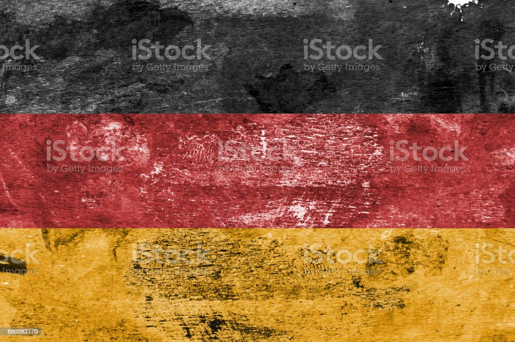 German Flag on a Paint Stained Background stock photo