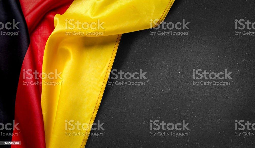 German flag on blackboard stock photo
