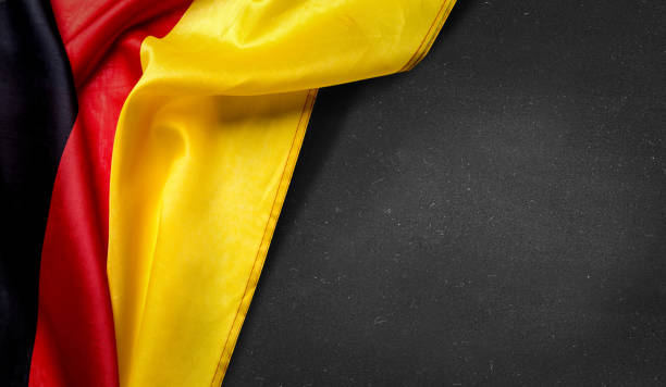 German flag on blackboard stock photo